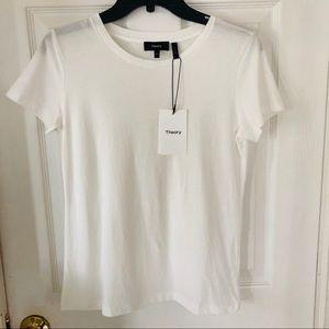 NWT Theory organic cotton white shirt